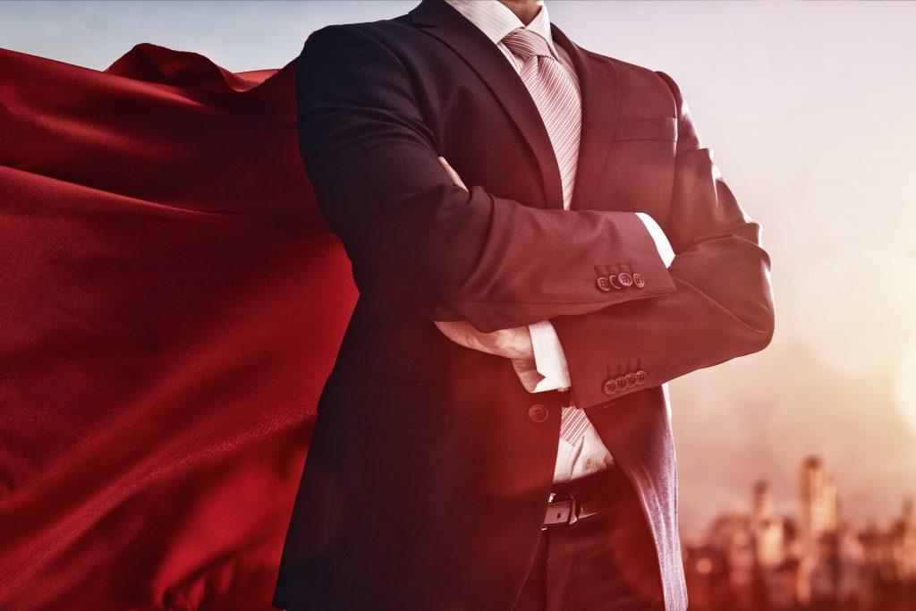Unternehmer - Superheld