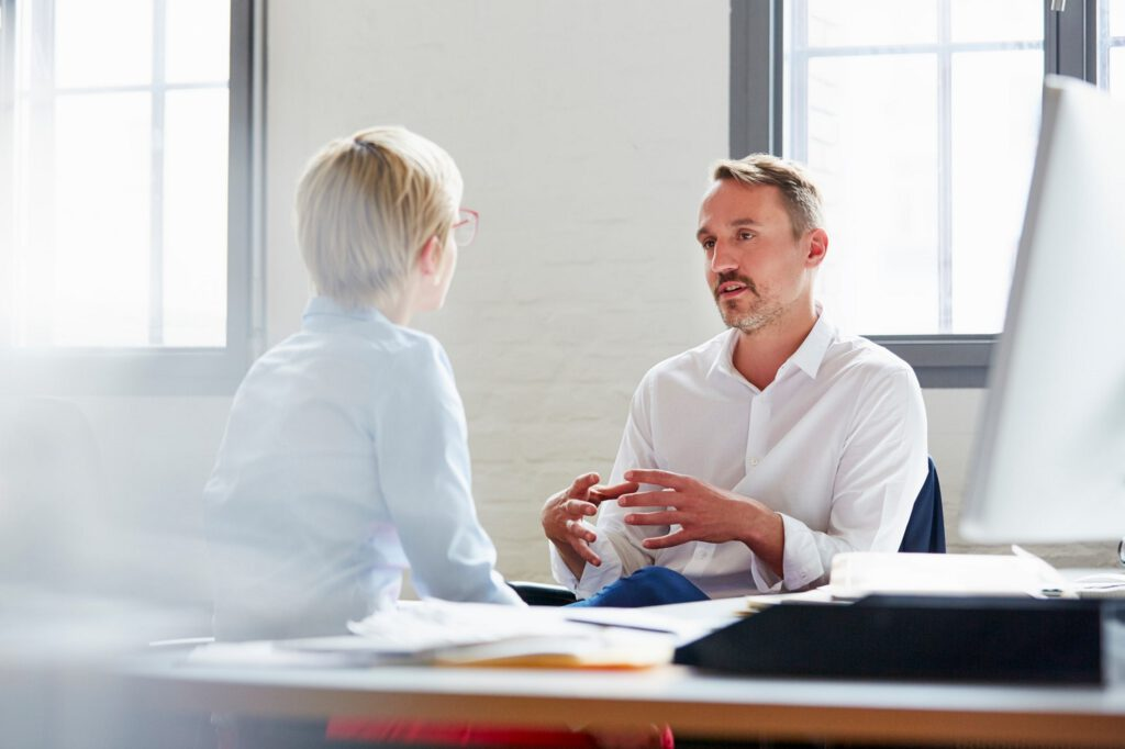 Mitarbeiter&Gespräch